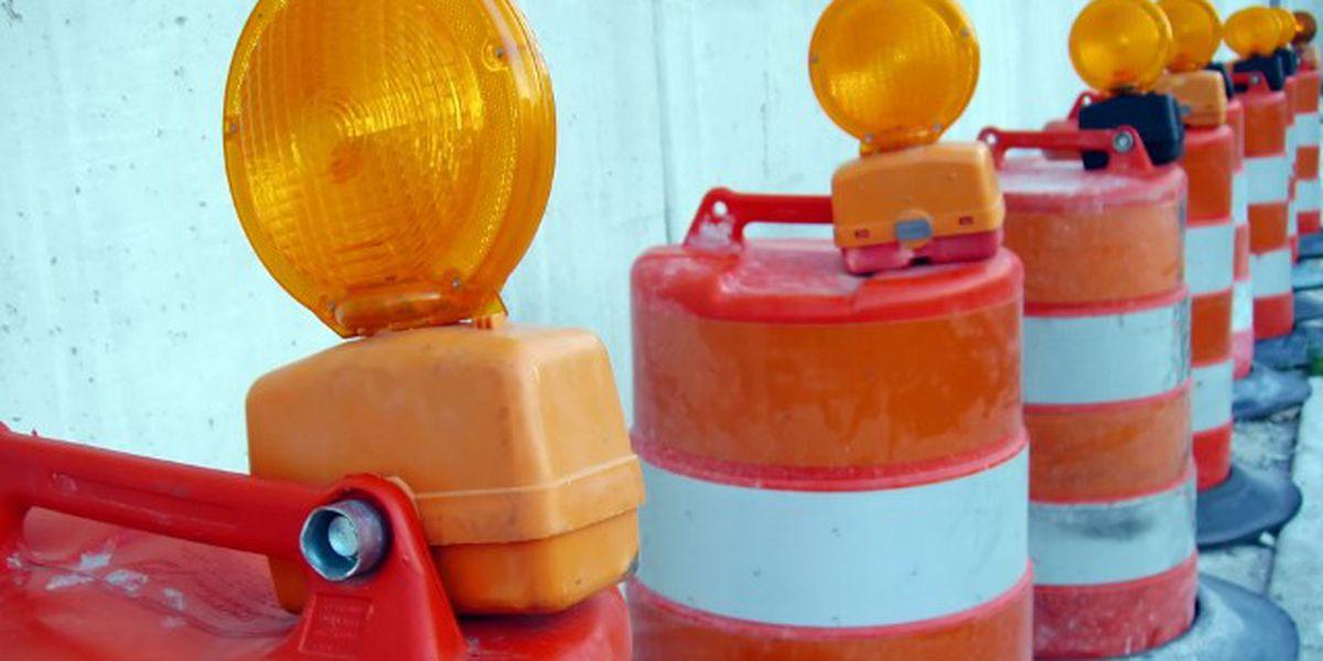 Lane closure at 124th & Quaker on Monday