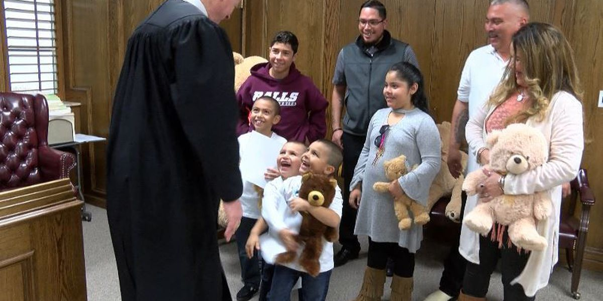 3 brothers find a South Plains forever family on National Adoption Day