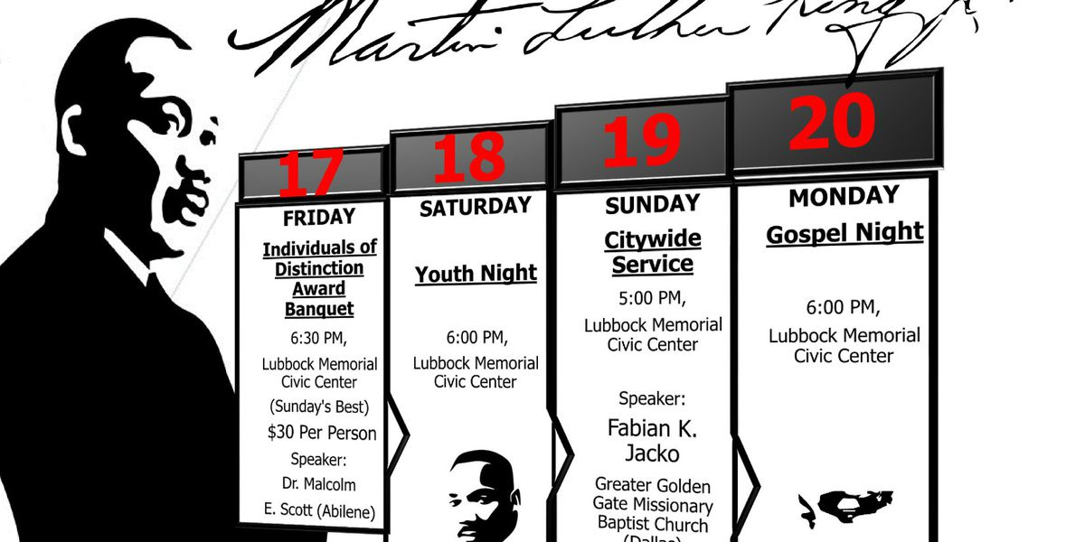 2020 Lubbock Martin Luther King, Jr. celebration