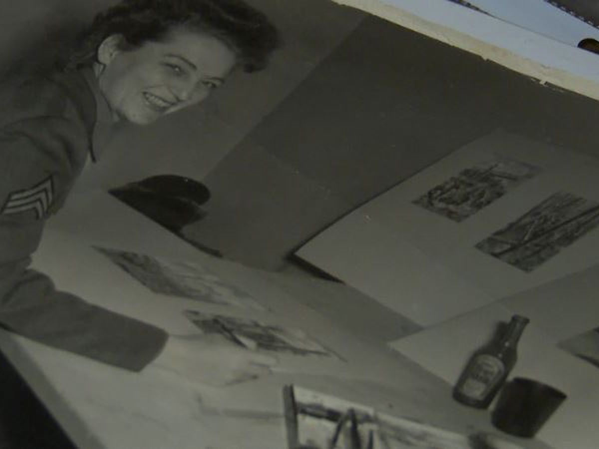 Hale County WWII woman combat artist featured at national Army museums