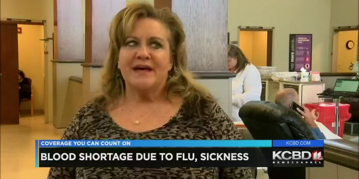 Flu causing blood shortage in Lubbock