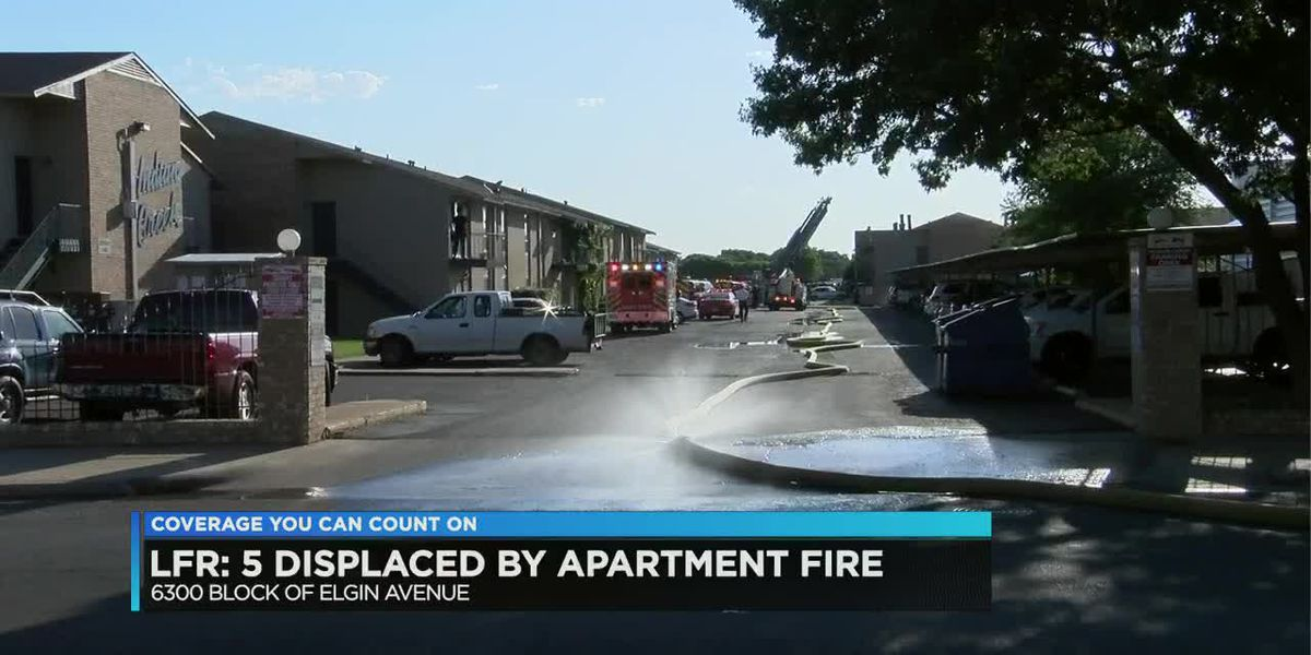 Five displaced by apartment fire