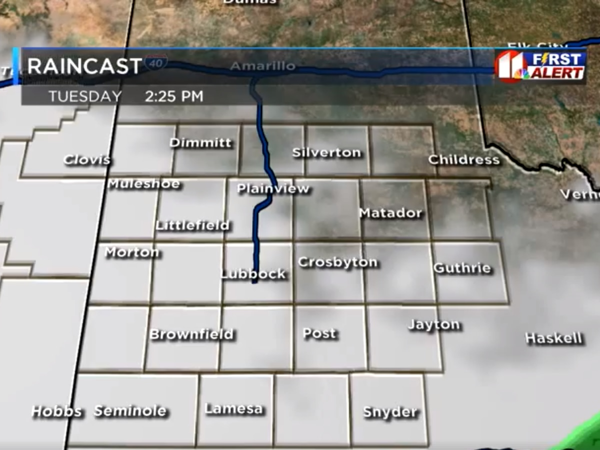 Blustery Monday across the South Plains