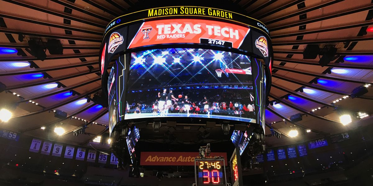 Red Raiders to play in Madison Square Garden for third straight season
