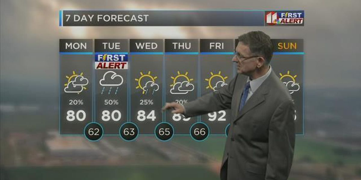 First Alert Weather: Thunderstorms expected overnight, more severe on Tuesday