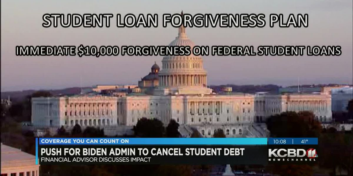 Push for Biden to forgive student loan debt