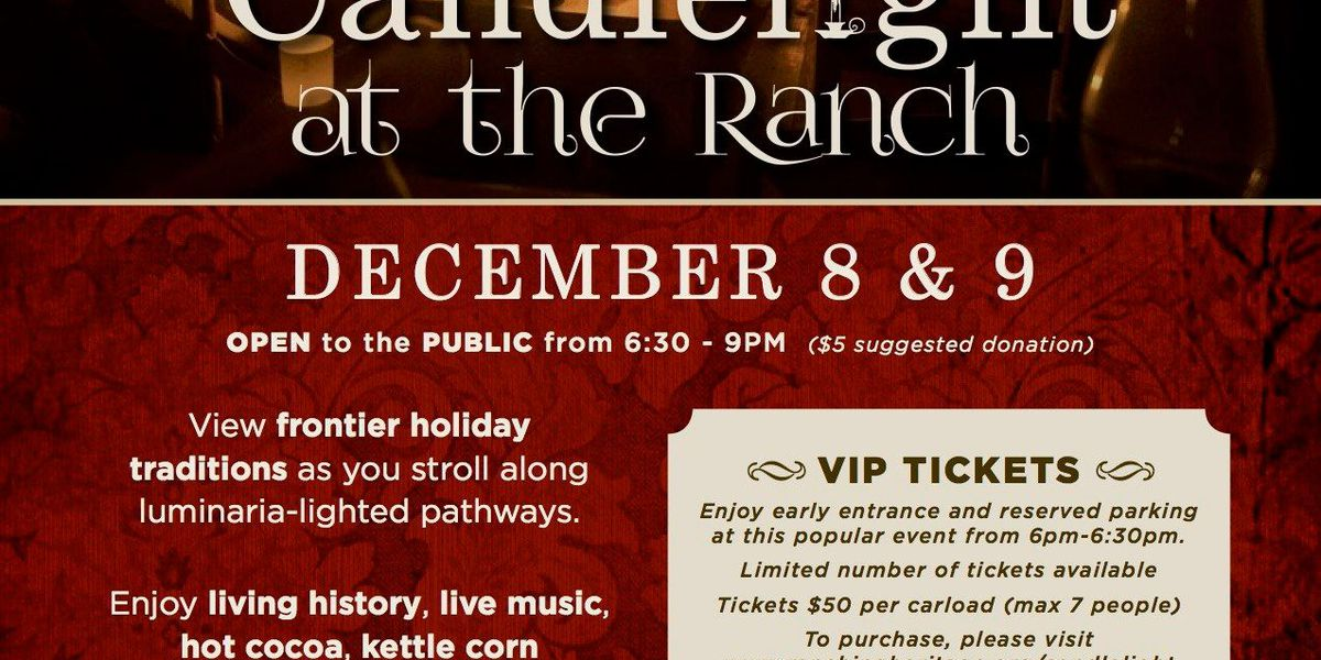 Ranching Heritage Center to host Candlelight at the Ranch