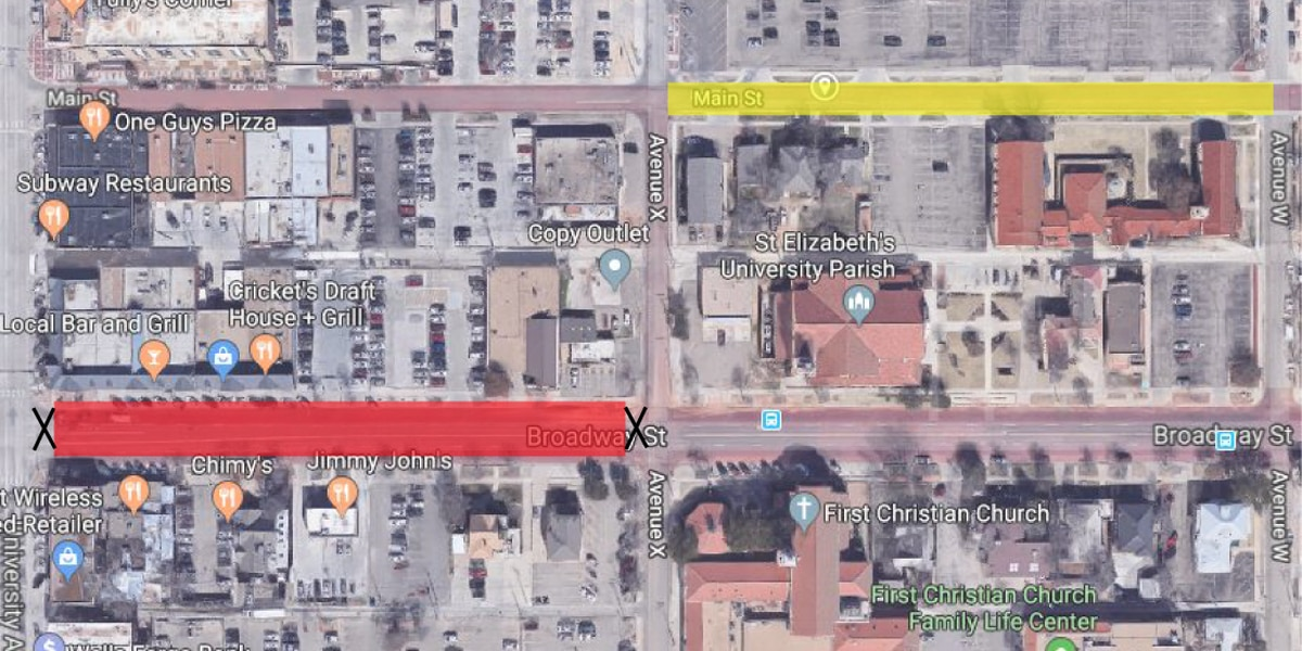 Parts of Avenue X, Broadway closed off Saturday for Tech SGA event