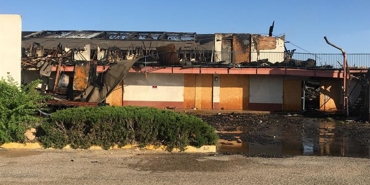 Crews demolishing Villa Town Motel after fire destroys building