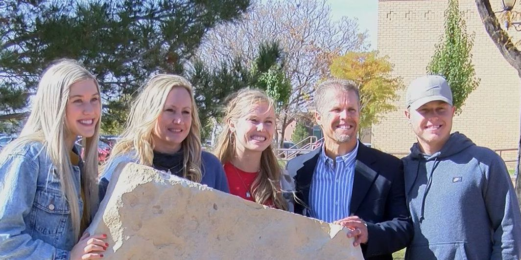 Stone dedicated on LCU campus by Maddox family 3 years after brain bleed