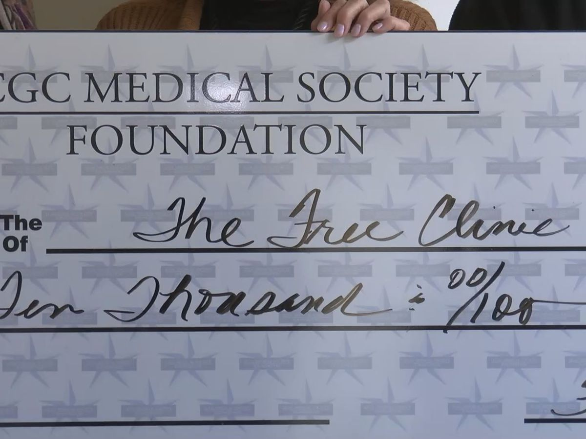 Big check helps with free health care