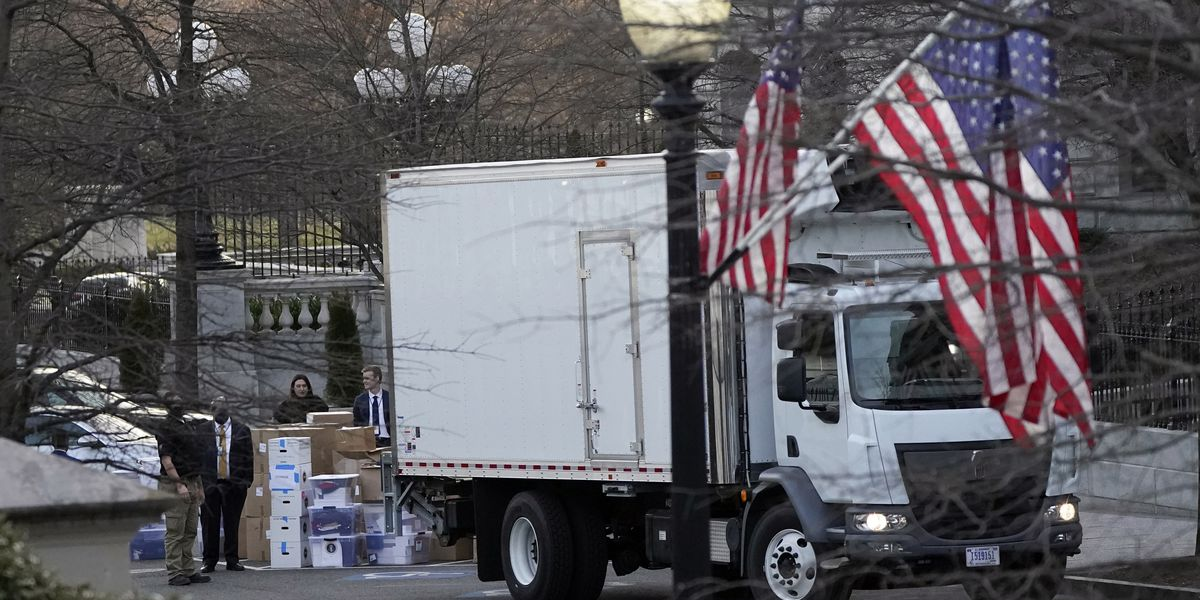 Inauguration Day also is move in/out day at the White House