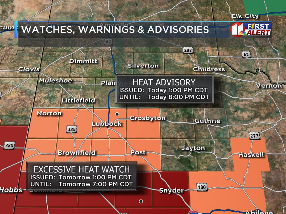 Heat advisory Sunday afternoon