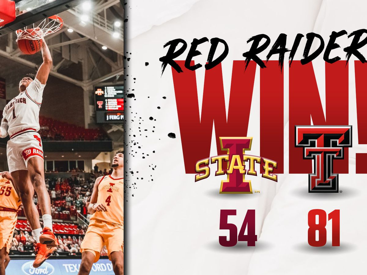 #18 Red Raiders win third in a row