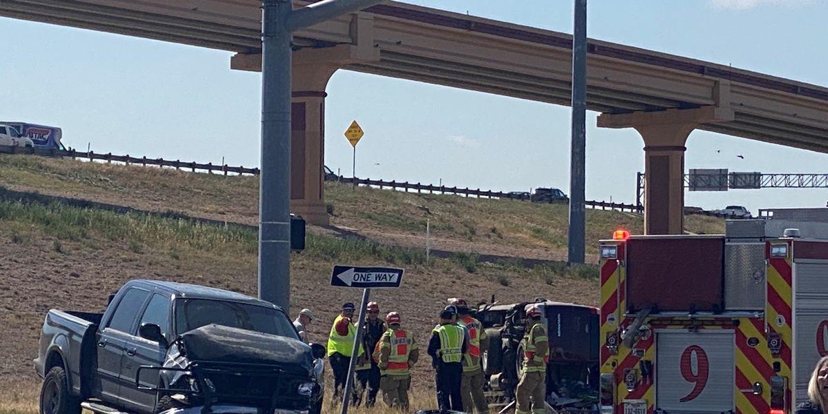 1 hospitalized after crash in West Lubbock