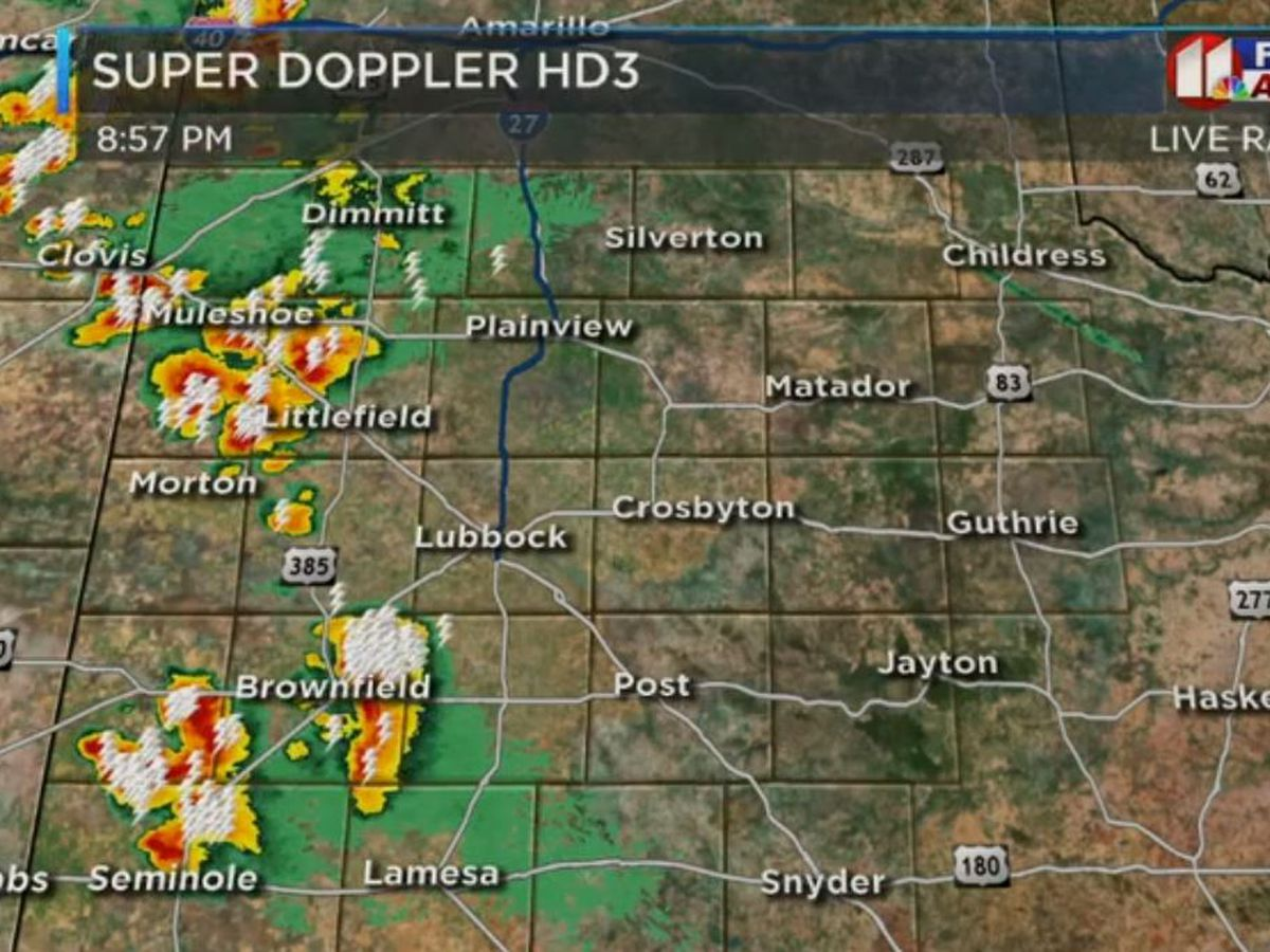 Severe Thunderstorm Warning issued for Lubbock County; Hail damage and high winds expected