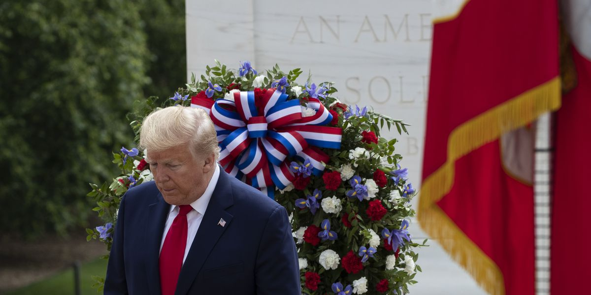 Trump honors war dead in events colored by pandemic's threat