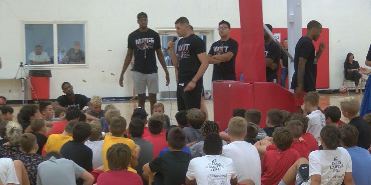 Matt Mooney back in Lubbock holding camp for kids, awaiting next NBA opportunity