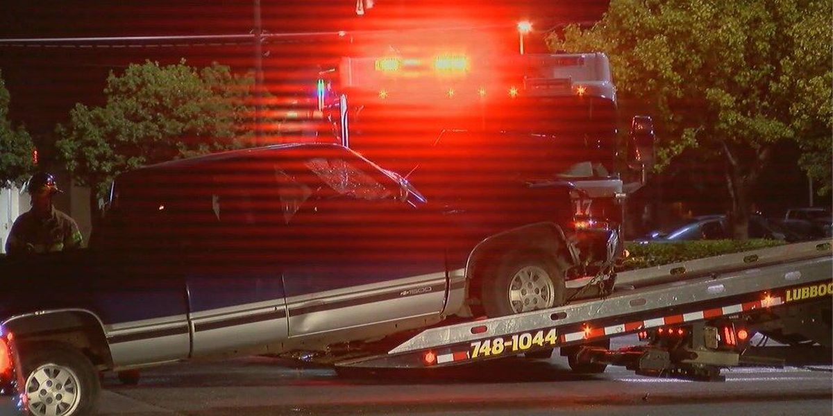 Pickup crashes into utility pole at 50th and Indiana