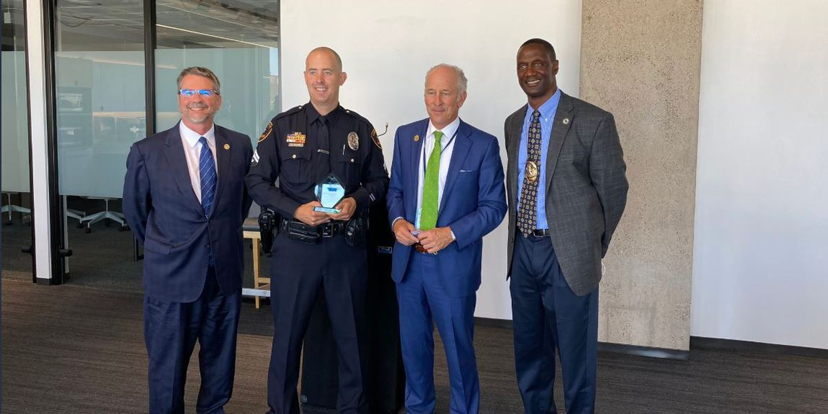 Lubbock PD Detective presented with 2020 Cherish The Children Award