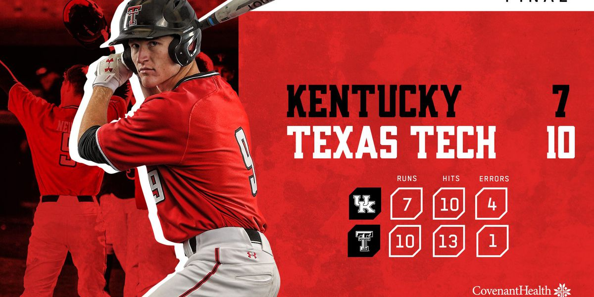 No. 3 Red Raiders beat Kentucky in game two