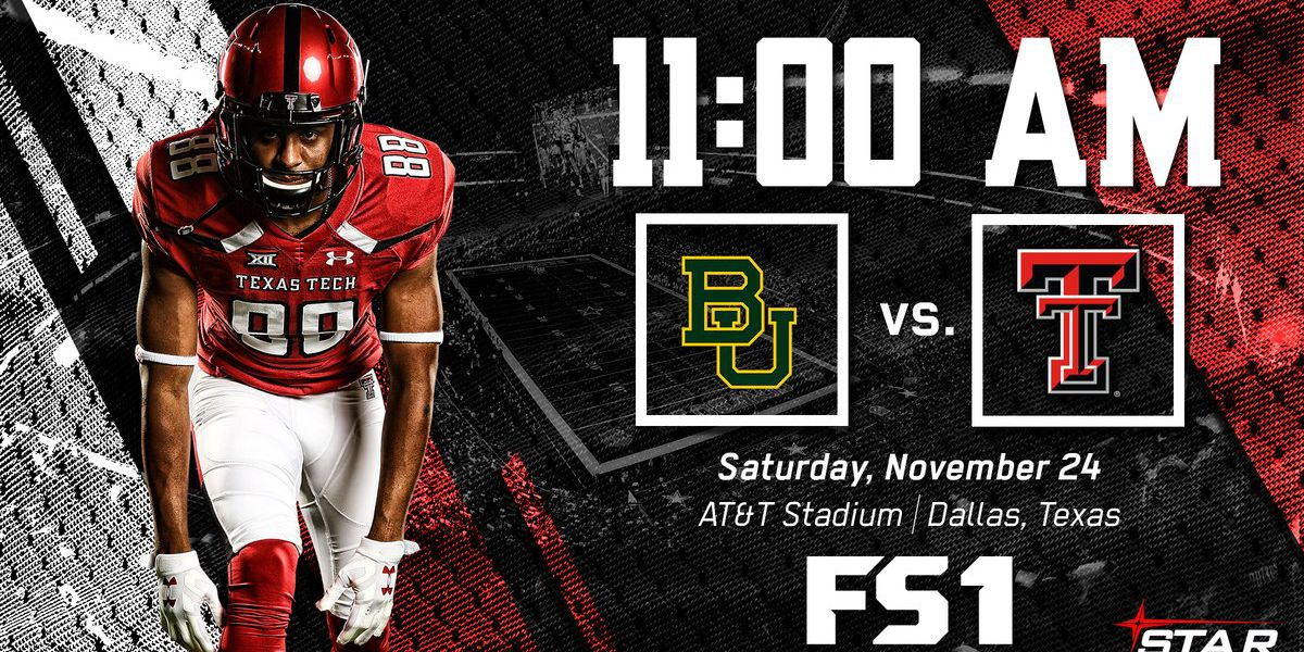 Tech vs. Baylor game scheduled for 11 a.m. Nov. 24