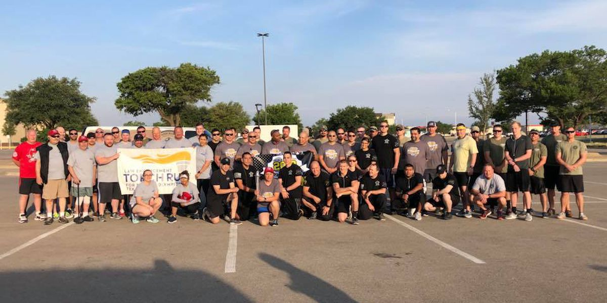 Lubbock Police participate in Special Olympics Torch Run to Arlington