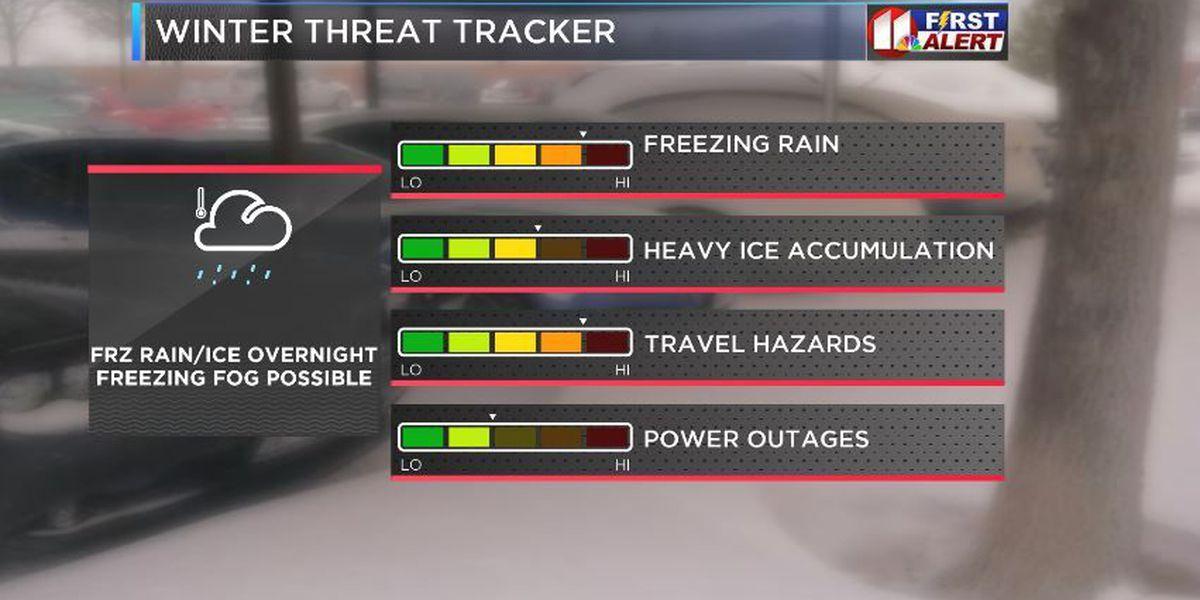 Hazardous travel remains possible overnight