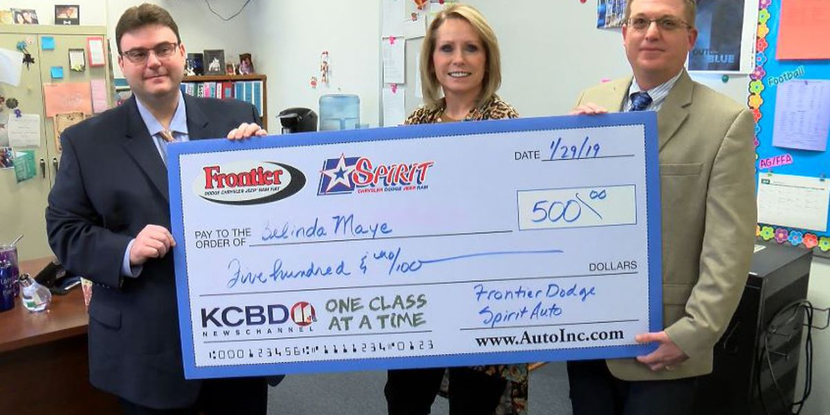 One Class At A Time: Smyer ISD teacher, American Cancer Society awarded $500