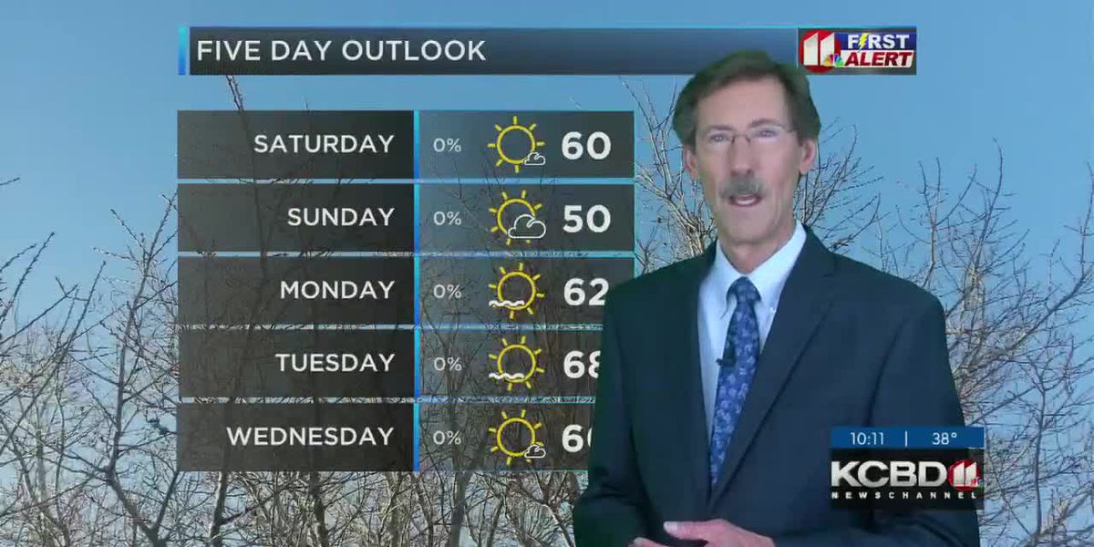 Much warmer weekend on the way