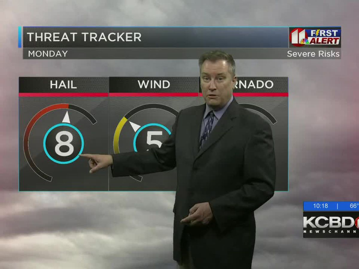 FIRST ALERT WEATHER DAY MONDAY: Significant risk for severe weather across the viewing area overnight and Monday