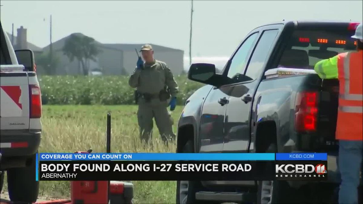 Body found along service road north of Abernathy