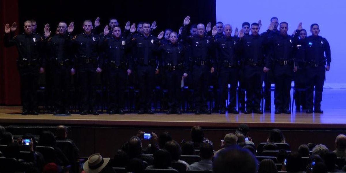 Lubbock police force graduates 22 new officers to the field