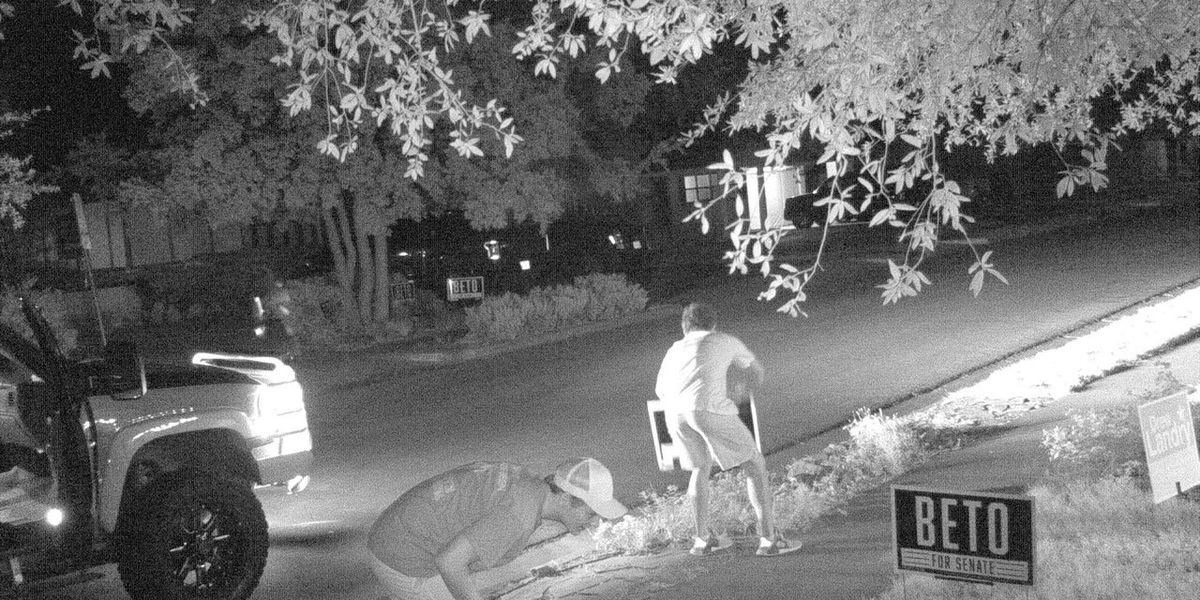 LPD: Thieves caught on camera stealing Beto campaign signs