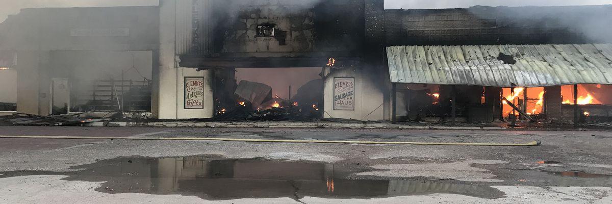 Landmark business burns in large early morning fire in Slaton