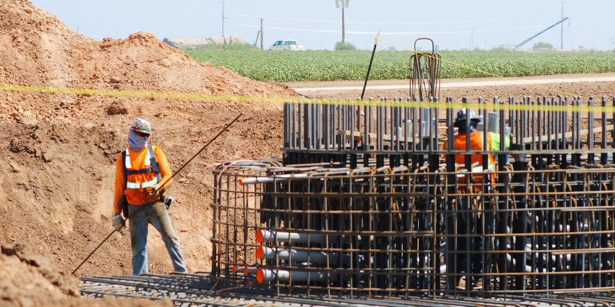 Concrete foundations poured for Texas Panhandle wind farm