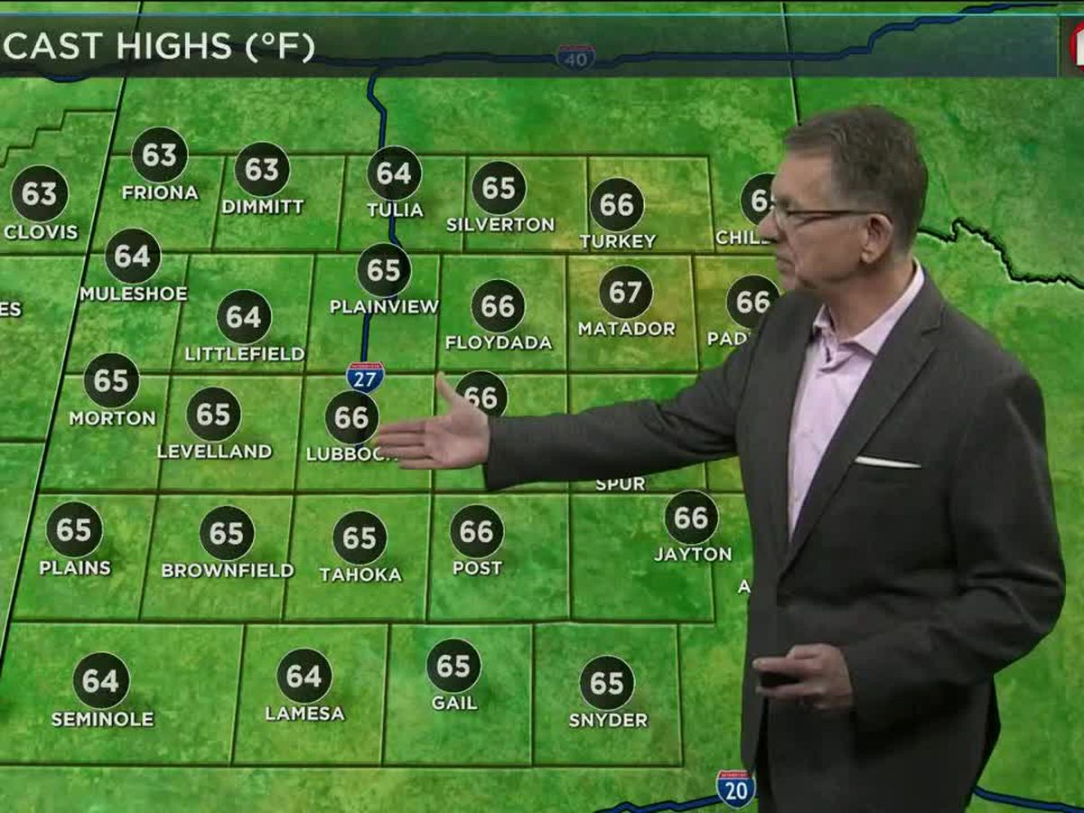 Slight rain chance today and this weekend