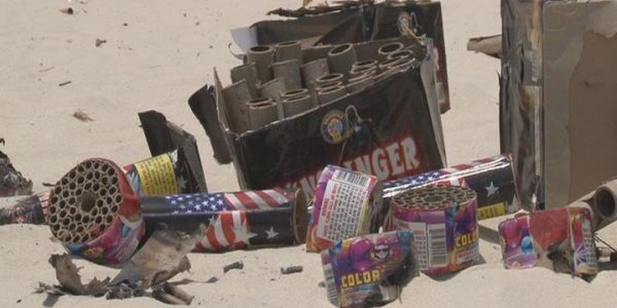 LCSO asks residents to pick up fireworks trash