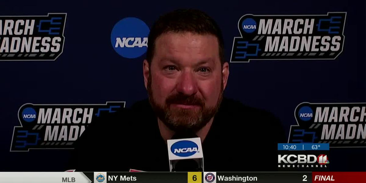 Chris Beard thanks his players in an emotional postgame news conference