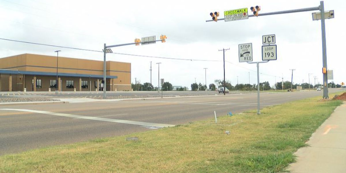 HAWK pedestrian crossing installed near Frenship ISD 9th Grade campus