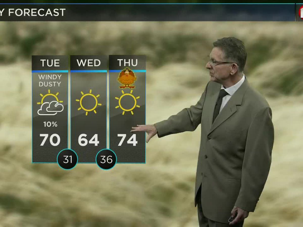 "Spring-like this afternoon, a ""mild"" Thanksgiving"