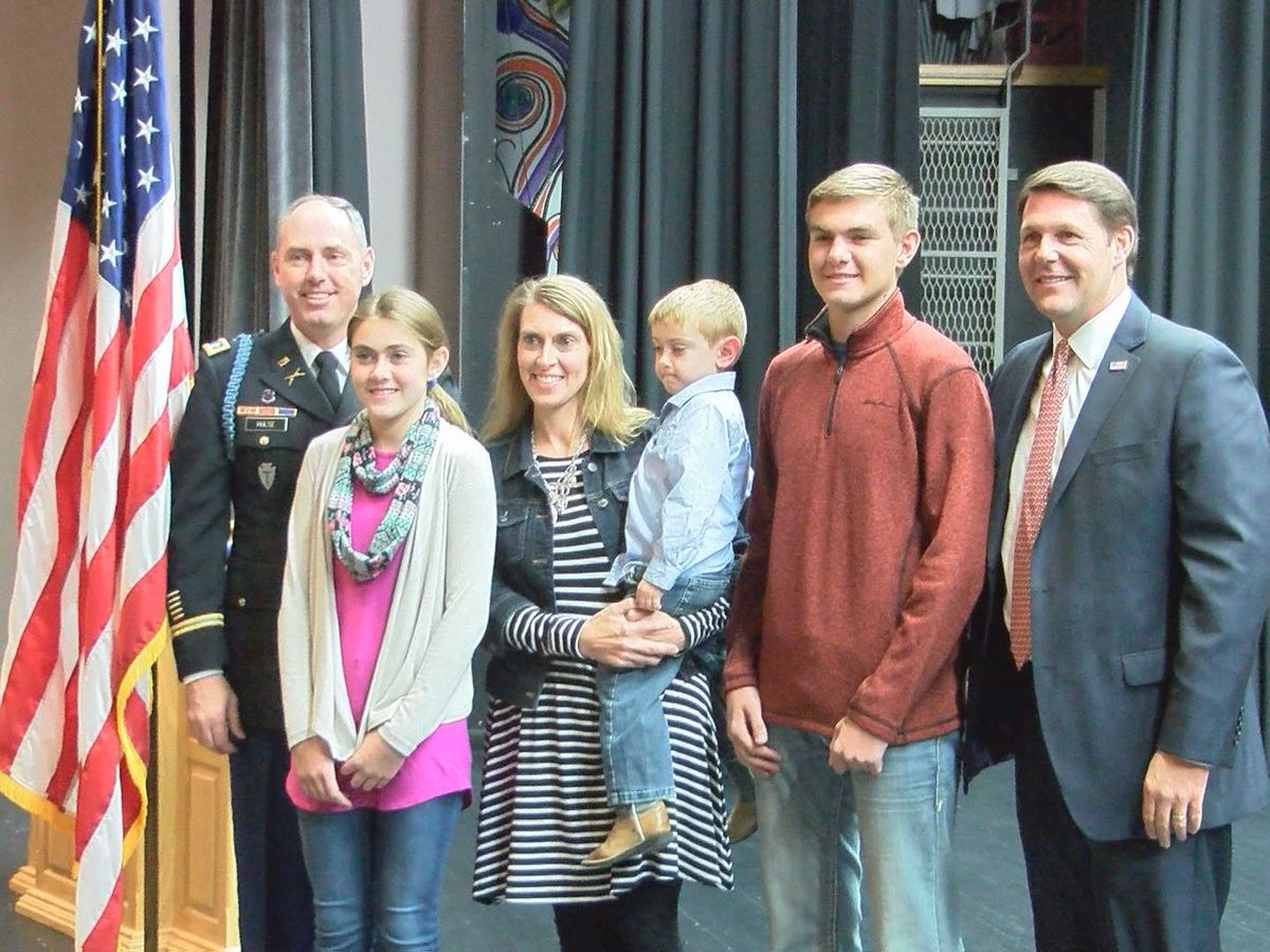 Congressman Arrington helps honor Shallowater High School Assistant Principal