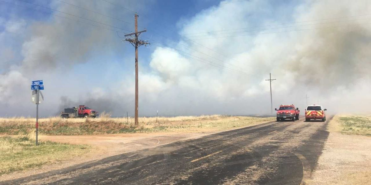 Grass fire near Abernathy moving southeast
