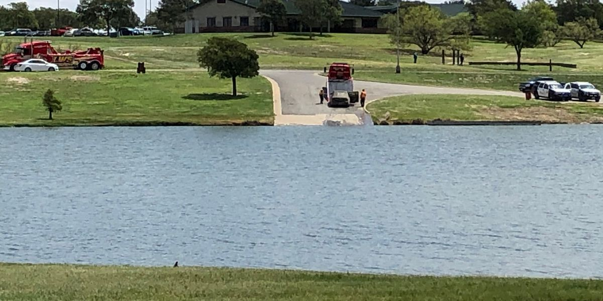 While cleaning out Dunbar Lake Lubbock Fire Rescue found a car