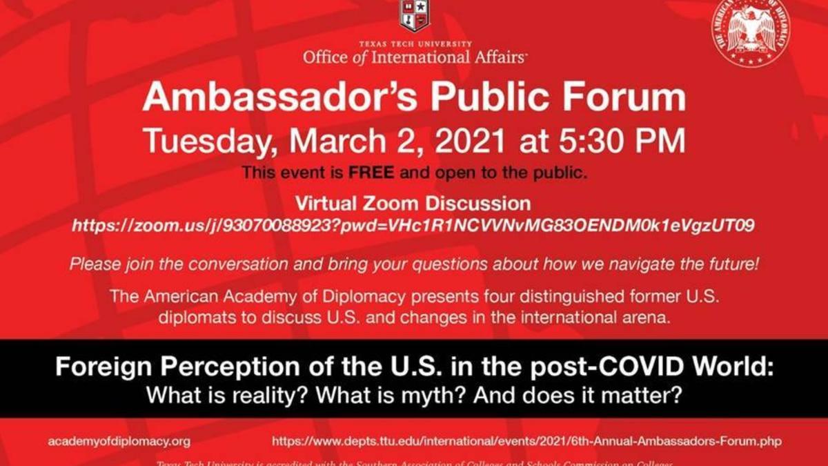 TTU Office of International Affairs hosts 6th annual Ambassador's Forum
