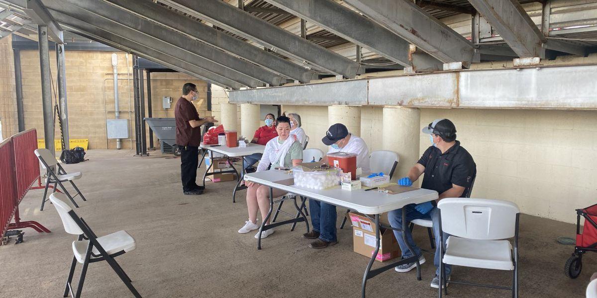 City vaccinates fans at Red Raider baseball game