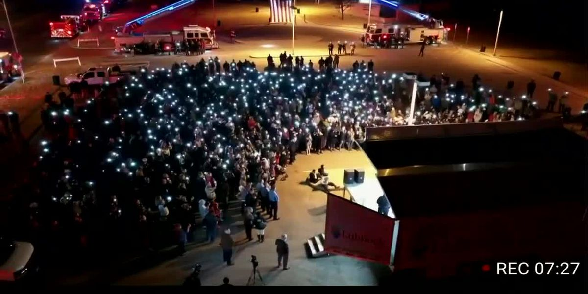 Lubbock police, fire chiefs grateful for 'overwhelming' support at memorial for first responders