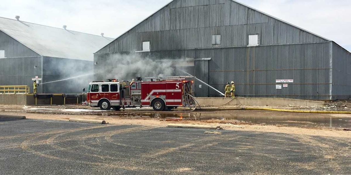 Lubbock Fire asks people to avoid east 42nd Street after cotton warehouse fire