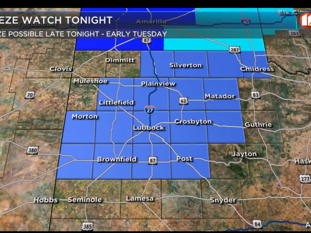 FREEZE WATCH Lubbock and South Plains
