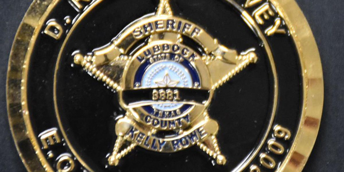 Lubbock Sheriff's Office honors Cpl. Harvey with commemorative coins